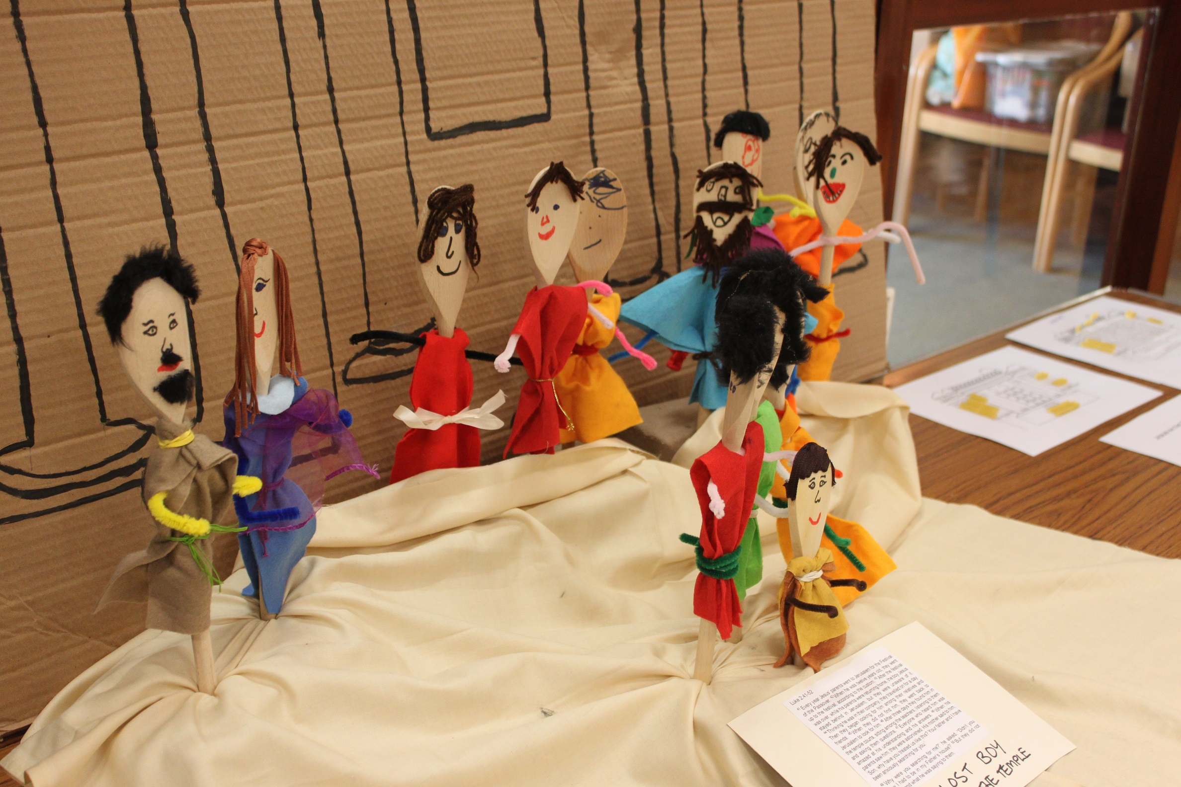 Bible stories from the childrens groups - photo by Keith Foxwell